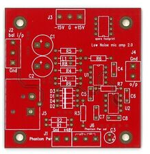 Ultra low noise low distortion bal mic amplifier PCB !