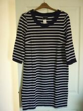 93115f3d99f2a Long Tall Sally Navy white Stripe Jersey Tunic Dress UK 14 EUR 42 US 10