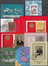 Unione Sovietica, 1977-78 blocco 121-129 timbrato, (22617)