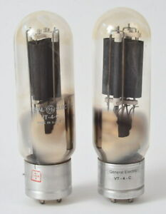 Beautiful Matched Pair of GE General Electric VT-4-C 211 Power Tubes