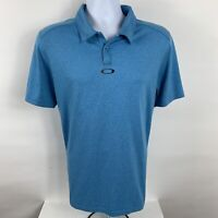 Oakley Hydrolix Golf Polo Shirt Men's Size Large Tailored Fit Short Sleeve Blue
