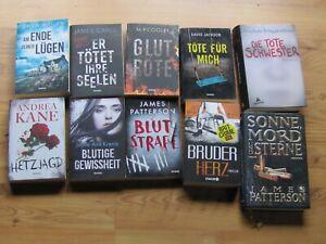 Thriller - Krimi Bücher-Paket