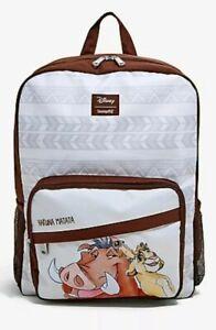 Loungefly Disney Lion King Backpack Hakuna Matata Timon Pumbaa NEW