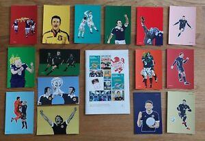 SCOTLAND EPISTLES FOOTBALL MAGAZINE #15 and 15 POSTCARD SET.