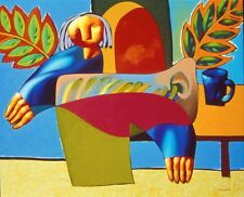 Contemporary Russian Art Simplified Still Life by Dmitri Strizhov s/n Serigraph