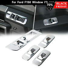 Chrome Window Lift Panel Cover Switches Cover Trim For Ford F150 Accessories 15+