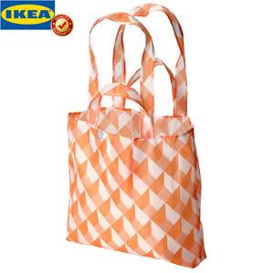 Original IKEA SKYNKE Tragetasche weiß/orange Einkaufstasche Umhängetasche