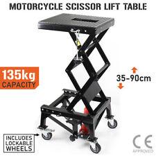 Motorcycle Scissor Lift Stand 135kg Hydraulic Motorbike Lifter Dirt Bike Jack