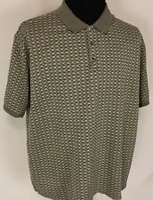 TRICOTS ST RAPHAEL COLLECTION  MENS Sz XL GRAY/BROWN QUALITY COMFORT POLO SHIRT