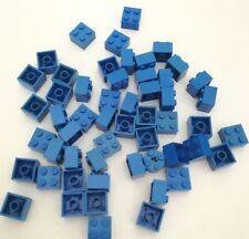 LEGO 50X BRICK 2X2 BLU MISTI LOTTO KG SET SPED GRATIS SU + ACQUISTI!