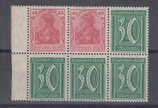 Germany 1922 Reich 40/30 Block Of 6 MNH J6519