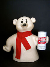 "VTG 1960~RHEINGOLD EXTRA DRY BEER~POLAR BEAR BACK BAR DISPLAY~11""~HOLDING can~NY"