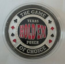 TEXAS HOLD'EM silver color Poker Card Guard Protector