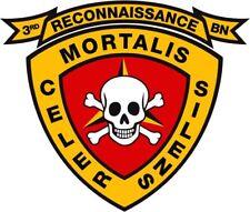 """USMC 3rd Recon Reconnaissance Battalion 3 1/2"""" Decal"""