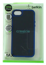 Belkin Grip Max Case w/ Air Shock Pockets for iPhone SE/5/5S Gravel & Civic Blue