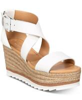 Marc Fisher Womens Zendra Leather Open Toe Special Occasion, White, Size 9.5 2Yp