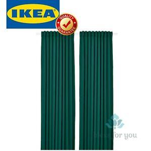 "IKEA MAJGULL Blackout Curtains 1 Pair Dark Turquoise 57x98 """