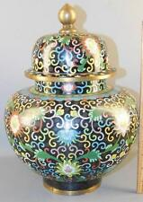Beautiful Asian Chinese Bronze Cloisonne ginger jar 13''High