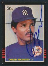 1985 Donruss #591 Omar Moreno Autograph - Vintage - Signed Baseball Yankees