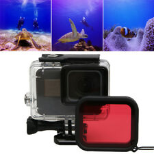Red Camera Lens Filter For GoPro Hero 5 6 Black Underwater Diving Case Cover CA
