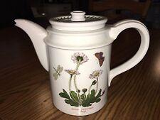 Vtg The Botanic Gardens DAISY Portmeirion 5.5 Cup Coffee Pot Butterfly/Dragonfly