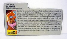 VINTAGE ZANDAR FILE CARD G.I. Joe Action Figure Dreadnok GREAT SHAPE 1986