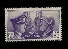 WWII 1941 NAZI GERMANY ITALY AXIS MEETING IN ROME HITLER & MUSSOLINI MINT STAMP