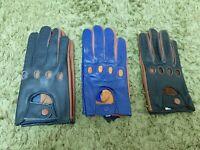 Two-Tone Men's Leather Sheepskin Gloves