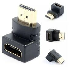 HDMI Male to HDMI Female Cable Adapter Converter Extender 90 Degree Angle