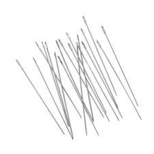 10Bags Iron Beading Needles Platinum 0.45x40mm Sewing Needles Darning Needles