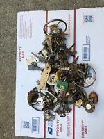 225 ASSORTED ANTIQUE SKELETON Car Lock Vintage KEY LOT Steel Brass Obsolete