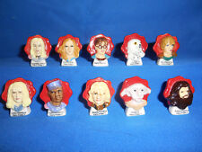 HARRY POTTER Red RELIEF BUSTS Set of 10 French Figurines Porcelain FEVES Figures