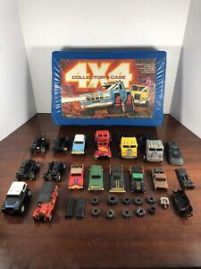 VTG Stompers 4x4 Collectors Blue Case Semi Trucks Schaper Mfg. 10 Diecast Cars