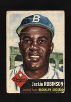 ⚾ 1953 TOPPS #1 JACKIE ROBINSON Original Dodgers! + 1952 Topps Mickey Mantle re