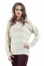 Women's Medium Knit Crew Neck None Wool Blend Jumpers & Cardigans