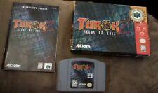 Turok 2 Seeds of Evil N64 Cartridge, Box, Manual, Nintendo 64 CIB