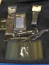 Bundle of Mil-Com Pistol Belt Wallet Compass Mirror Lightstick Hiking Scouts