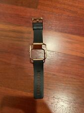 fitbit blaze band small; black band with gold frame- Used