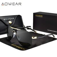 Aluminum frame Polarized Sunglasses Men's Driving Glasses Sports Goggles Eyewear