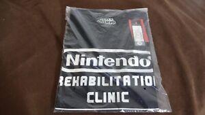 SUPER MARIO 2011 Nintendo REHABILITATION CLINIC Promo Shirt! RARE!