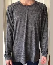 Lululemon Mens Size L Metal Vent Tech Wool LS Long Sleeve Black White Pullover