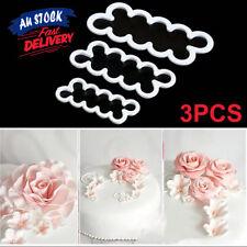 3 pcs Sugar Baking Flower Cutter Fondant Cake Rose Mold Decorating Mould Tool
