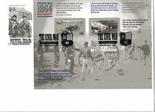 4910-11 The Civil War: 1864 Petersburg/Mobile Bay pane of 2, ArtCraft  FDC
