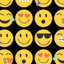 Emoji Tissue Paper # 255 .10 large sheets - Smiley faces on Black background