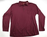 Tommy Bahama Purple Burgundy Casual Long Sleeved Polo Pima Cotton Blend Size XL
