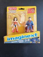 Imaginext Wonder Woman and Superman DC Super Friends Fisher Price