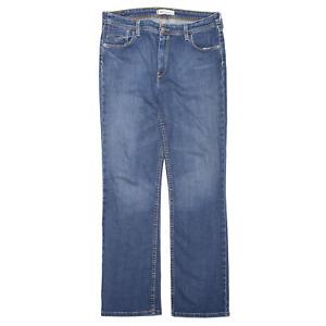 LEVI'S 627 Blue Denim Slim Straight Jeans Womens W33 L32