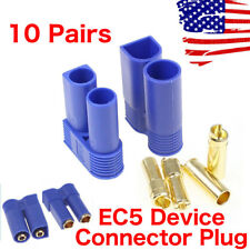 10 Pairs EC5 Device Connector Plug for RC Car Plane Helicopter Battery Lipo USA