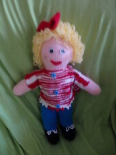 Knitted Ghully Doll GIRL  46cms removable clothes