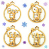 Wooden MDF Alcohol Elf Christmas Bauble Tree Decoration Gift - Set of 8 Xmas